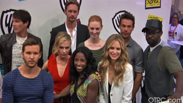 "<div class=""meta ""><span class=""caption-text "">'True Blood' cast members Anna Paquin, Stephen Moyer, Ryan Kwanten, Rutina Wesley, Nelsan Ellis, Alexander Skarsgard, Deborah Ann Woll, Kristin Bauer and Kevin Alejandro appear in at an autograph signing at Comic-Con in San Diego on Friday, July 22, 2011. (OTRC Photo)</span></div>"