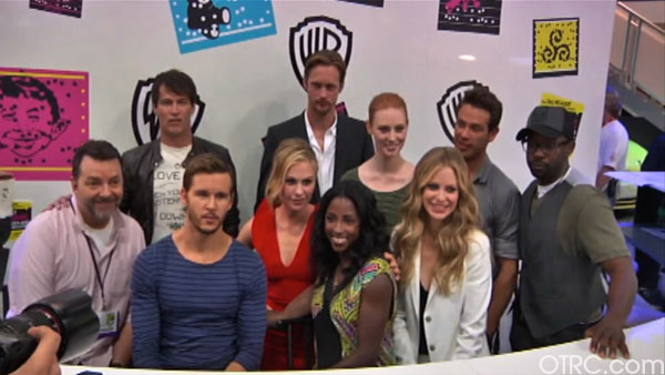"<div class=""meta ""><span class=""caption-text "">'True Blood' creator Alan Ball and cast members Anna Paquin, Stephen Moyer, Ryan Kwanten, Rutina Wesley, Nelsan Ellis, Alexander Skarsgard, Deborah Ann Woll, Kristin Bauer and Kevin Alejandro appear in at an autograph signing at Comic-Con in San Diego on Friday, July 22, 2011. (OTRC Photo)</span></div>"