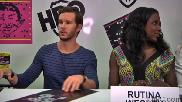 &#39;True Blood&#39; cast members Ryan Kwanten and Rutina Wesley appear in at an autograph signing at Comic-Con in San Diego on Friday, July 22, 2011. <span class=meta>(OTRC Photo)</span>