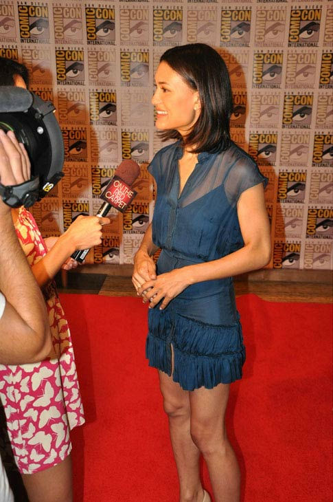 OnTheRedCarpet.com co-host Rachel Smith interviews Julia Jones from 'The Twilight Saga' at Comic-Con in San Diego on Thursday, July 21, 2011.