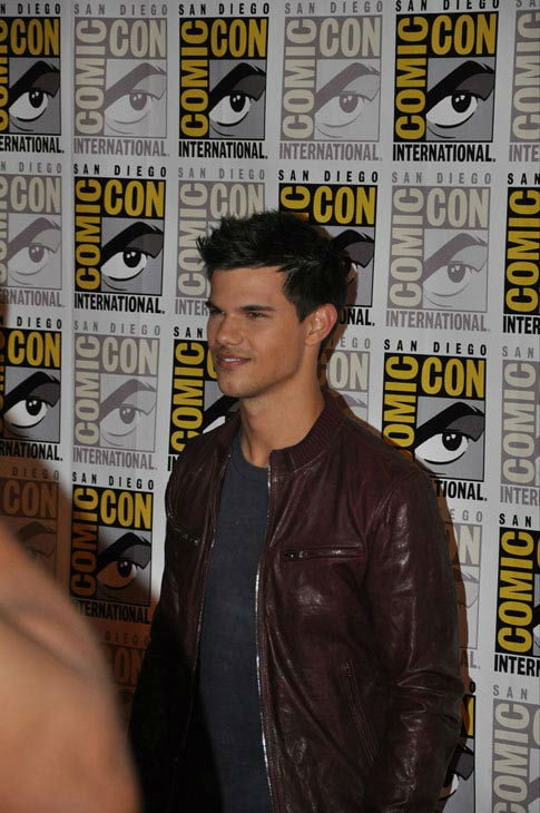 Taylor Lautner from 'The Twilight Saga' appears in a photo at Comic-Con in San Diego on Thursday, July 21, 2011.