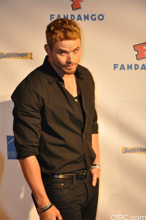 Kellan Lutz from &#39;The Twilight Saga&#39; appears in a photo at the Summit Comic-Con party sponsored by Butterfinger at the Hard Rock Hotel in San Diego on Thursday, July 21, 2011. <span class=meta>(OTRC Photo)</span>
