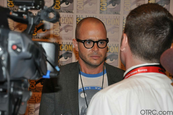 "<div class=""meta image-caption""><div class=""origin-logo origin-image ""><span></span></div><span class=""caption-text"">Damon Lindelof, former executive producer of 'Lost' and co-writer of 'Cowboys & Aliens,' appears in a photo at Comic-Con in San Diego on Thursday, July 21, 2011. (OTRC Photo)</span></div>"