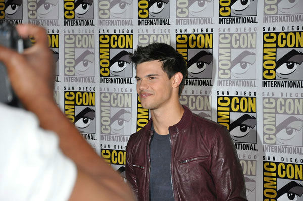 Taylor Lautner from 'The Twilight Saga' appears...