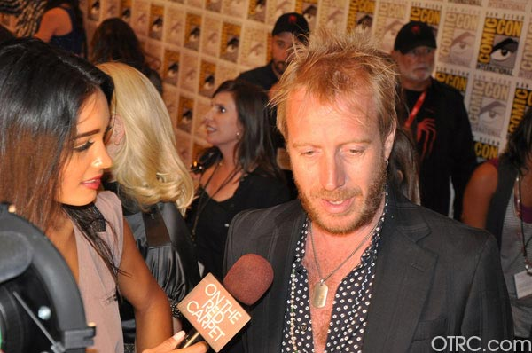 Rhys Ifans from &#39;The Amazing Spider-Man&#39; panel appears in a photo at Comic-Con in San Diego on Friday, July 22, 2011. The film is scheduled to be released in 3D on July 3, 2012. <span class=meta>(OTRC Photo)</span>