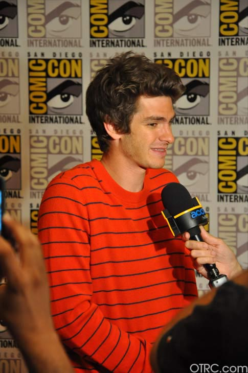 Andrew Garfield from &#39;The Amazing Spider-Man&#39; panel appears in a photo at Comic-Con in San Diego on Friday, July 22, 2011. The film is scheduled to be released in 3D on July 3, 2012. <span class=meta>(OTRC Photo)</span>