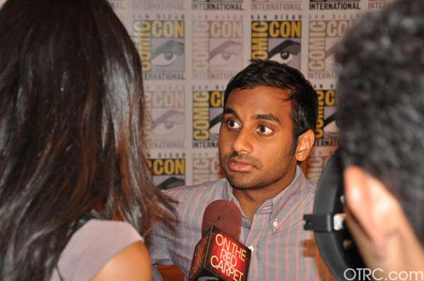 Aziz Ansari from the &#39;30 Minutes or Less&#39; panel appears in a photo at Comic-Con in San Diego on Friday, July 22, 2011.The film is scheduled to be released on August 12, 2011. <span class=meta>(OTRC Photo)</span>
