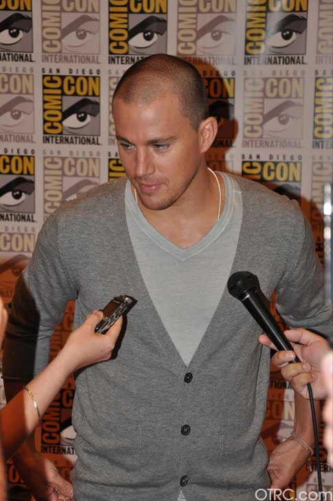 "<div class=""meta image-caption""><div class=""origin-logo origin-image ""><span></span></div><span class=""caption-text"">Channing Tatum from the 'Haywire' panel appears in a photo at Comic-Con in San Diego on Friday, July 22, 2011.The film is scheduled to be released on January 20, 2012. (OTRC Photo)</span></div>"