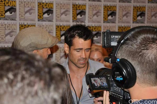 "<div class=""meta image-caption""><div class=""origin-logo origin-image ""><span></span></div><span class=""caption-text"">Colin Farrell from the 'Total Recall' remake panel appears in a photo at Comic-Con in San Diego on Friday, July 22, 2011.The film is scheduled to be released on August 3, 2012. (OTRC Photo)</span></div>"