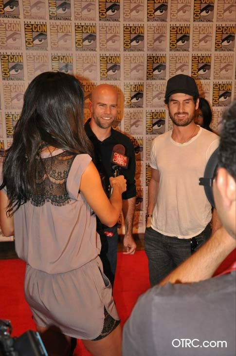 "<div class=""meta image-caption""><div class=""origin-logo origin-image ""><span></span></div><span class=""caption-text"">'Ghost Rider: Spirit of Vengeance' directors Mark Neveldine and Brian Taylor talk to OnTheRedCarpet.com co-host Rachel Smith at San Diego Comic-Con on Friday, July 22, 2011. Columbia Pictures has set February 17, 2012 as the U.S. release date for the action fantasy movie.   (OTRC)</span></div>"
