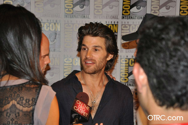 &#39;Ghost Rider: Spirit of Vengeance&#39; actor Johnny Whitworth, who plays human-turned-demon Blackout talks to OnTheRedCarpet.com co-host Rachel Smith at San Diego Comic-Con on Friday, July 22, 2011. Columbia Pictures has set February 17, 2012 as the U.S. release date for the action fantasy movie.  <span class=meta>(OTRC)</span>