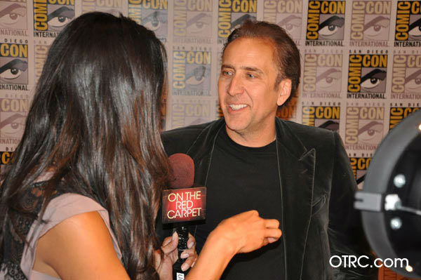 "<div class=""meta ""><span class=""caption-text "">'Ghost Rider: Spirit of Vengeance' star Nicolas Cage talks to OnTheRedCarpet.com co-host Rachel Smith at San Diego Comic-Con on Friday, July 22, 2011. Columbia Pictures has set February 17, 2012 as the U.S. release date for the action fantasy movie.   (OTRC)</span></div>"