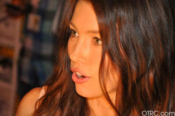 Jessica Biel from the 'Total Recall' remake...