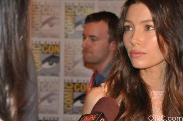 Jessica Biel from the 'Total Recall' remake appears in a photo at Comic-Con in San Diego on Friday, July 22, 2011.