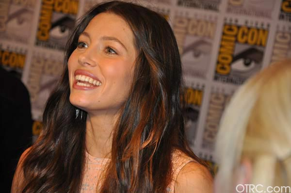 "<div class=""meta ""><span class=""caption-text "">Jessica Biel from the 'Total Recall' remake panel appears in a photo at Comic-Con in San Diego on Friday, July 22, 2011.The film is scheduled to be released on August 3, 2012. (OTRC Photo)</span></div>"