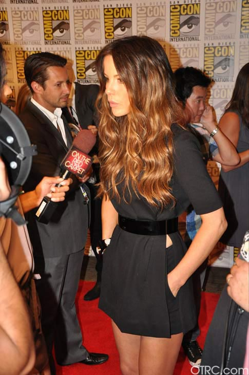 Kate Beckinsale from the &#39;Total Recall&#39; remake panel appears in a photo at Comic-Con in San Diego on Friday, July 22, 2011.The film is scheduled to be released on August 3, 2012. <span class=meta>(OTRC Photo)</span>