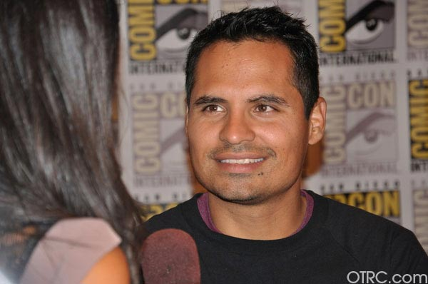 "<div class=""meta ""><span class=""caption-text "">Michael Pena from the '30 Minutes or Less' panel appears in a photo at Comic-Con in San Diego on Friday, July 22, 2011.The film is scheduled to be released on August 12, 2011. (OTRC Photo)</span></div>"