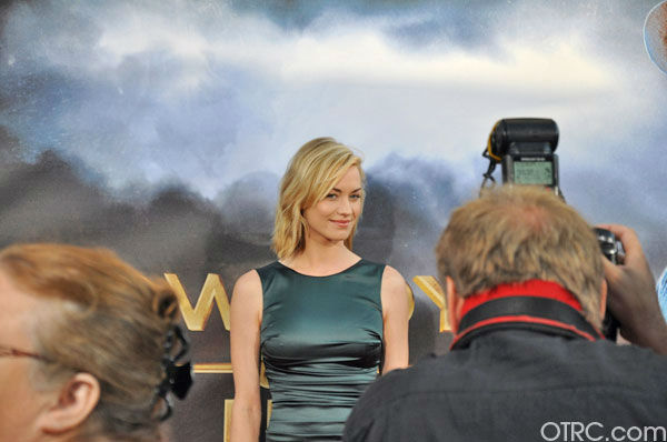 Yvonne Strahovski appears at the premiere of 'Cowboys & Aliens' at San Diego Comic-Con on Saturday, July 23, 2011.