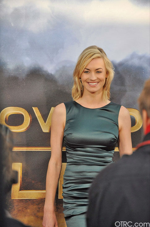 "<div class=""meta image-caption""><div class=""origin-logo origin-image ""><span></span></div><span class=""caption-text"">Yvonne Strahovski appears at the premiere of 'Cowboys & Aliens' at San Diego Comic-Con on Saturday, July 23, 2011. (OTRC Photo)</span></div>"