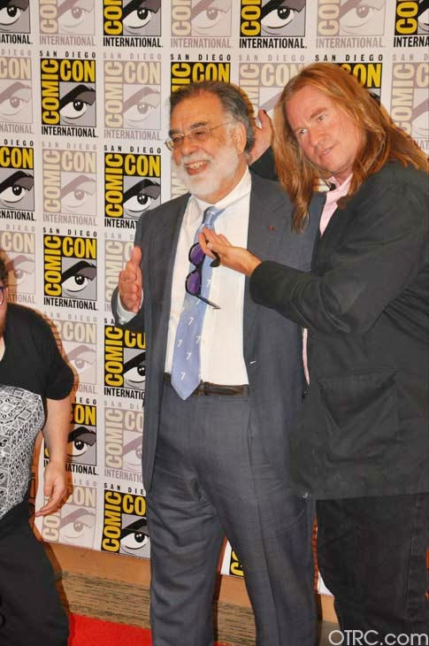 "<div class=""meta ""><span class=""caption-text "">""Twixt"" writer/director Francis Ford Coppola and actor Val Kilmer pose for pictures at San Diego Comic-Con on Saturday, July 23, 2011. (OTRC Photo)</span></div>"