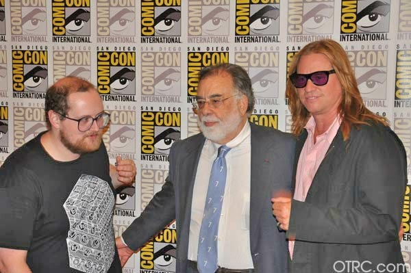 &#34;Twixt&#34; writer&#47;director Francis Ford Coppola and actor Val Kilmer pose for pictures at San Diego Comic-Con on Saturday, July 23, 2011. <span class=meta>(OTRC Photo)</span>