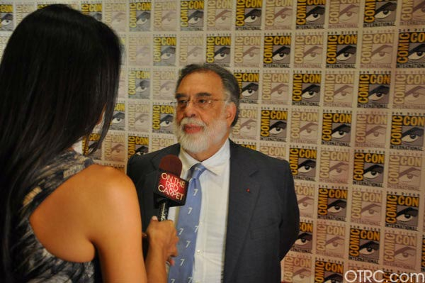 "<div class=""meta image-caption""><div class=""origin-logo origin-image ""><span></span></div><span class=""caption-text"">""Twixt"" writer/director Francis Ford Coppola talks to OnTheRedCarpet.com co-host Rachel Smith at San Diego Comic-Con on Saturday, July 23, 2011. (OTRC Photo)</span></div>"