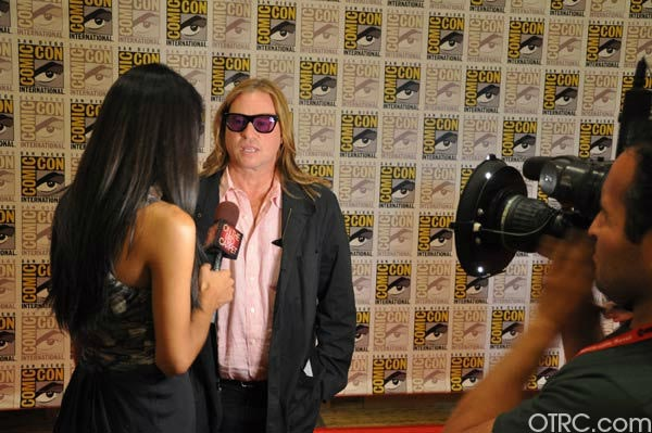 &#34;Twixt&#34; actor Val Kilmer talks to OnTheRedCarpet.com co-host Rachel Smith at San Diego Comic-Con on Saturday, July 23, 2011.  <span class=meta>(OTRC Photo)</span>