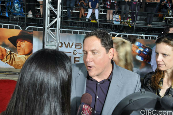 'Cowboys & Aliens' director Jon Favreau talks to OnTheRedCarpet.com co-host Rachel Smith at the film's premiere at San Diego Comic-Con on Saturday, July 23, 2011.