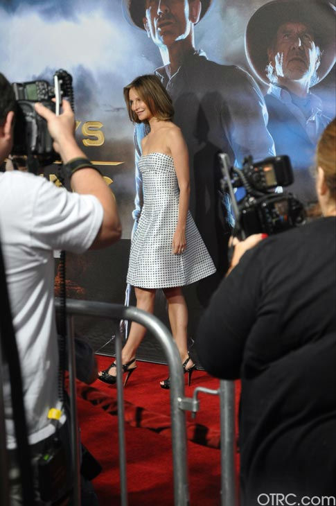 "<div class=""meta ""><span class=""caption-text "">Calista Flockhart appears at the premiere of 'Cowboys & Aliens' at San Diego Comic-Con on Saturday, July 23, 2011. (OTRC Photo)</span></div>"