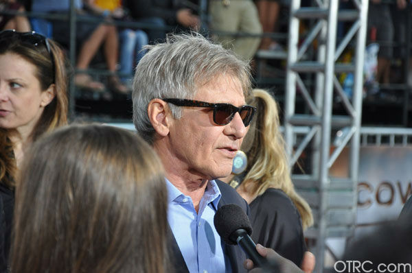 "<div class=""meta ""><span class=""caption-text "">'Cowboys & Aliens' actor Harrison Ford appears at the film's premiere at San Diego Comic-Con on Saturday, July 23, 2011. (OTRC Photo)</span></div>"
