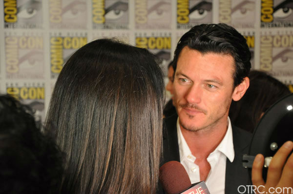 &#39;Immortals&#39; actor Luke Evans talks to OnTheRedCarpet.com co-host Rachel Smith at San Diego Comic-Con on Saturday, July 23, 2011. <span class=meta>(OTRC Photo)</span>