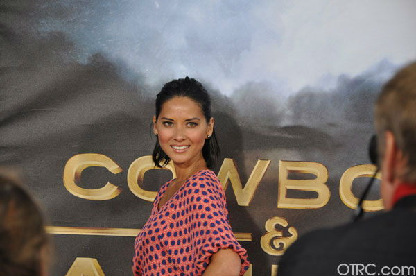 "<div class=""meta image-caption""><div class=""origin-logo origin-image ""><span></span></div><span class=""caption-text"">Olivia Munn appears at the premiere of 'Cowboys & Aliens' at San Diego Comic-Con on Saturday, July 23, 2011. (OTRC Photo)</span></div>"