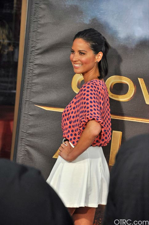 Olivia Munn appears at the premiere of &#39;Cowboys &#38; Aliens&#39; at San Diego Comic-Con on Saturday, July 23, 2011. <span class=meta>(OTRC Photo)</span>