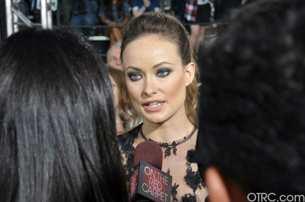 'Cowboys & Aliens' actress Olivia Wilde talks to OnTheRedCarpet.com co-host Rachel Smith at the film's premiere at San Diego Comic-Con on Saturday, July 23, 2011.