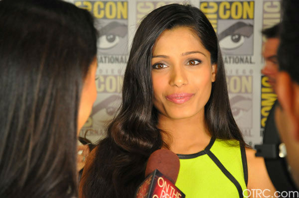 &#39;Immortals&#39; actress Freida Pinto talks to OnTheRedCarpet.com co-host Rachel Smith at San Diego Comic-Con on Saturday, July 23, 2011. <span class=meta>(OTRC Photo)</span>