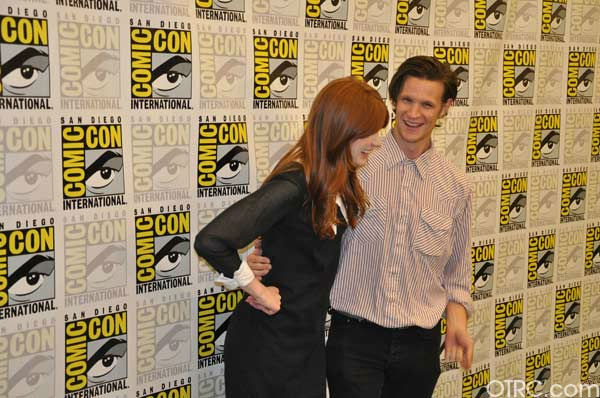 'Dr. Who' actors Matt Smith and Karen Gillan appear in a photo at San Diego Comic-Con on Sunday, July 24, 2011.