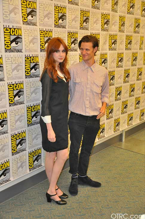 'Dr. Who' actors Matt Smith and Karen Gillan...