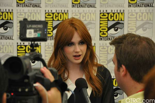 'Dr. Who' actress Amy Pond appears in a photo at...