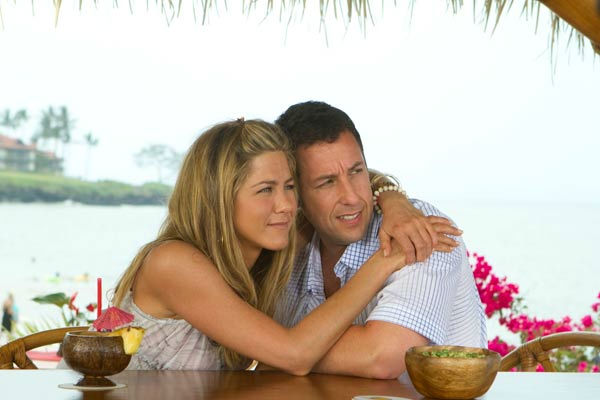 Adam Sandler and Jennifer Aniston appear in a scene from 'Just Go With It.'