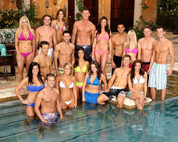 "<div class=""meta image-caption""><div class=""origin-logo origin-image ""><span></span></div><span class=""caption-text"">Hosted by Chris Harrison, 'Bachelor Pad' returns with its most controversial cast to date, as 18 unforgettable characters from the ""Bachelor"" franchise - those we love and those we love to hate, gather back at the mansion to live together and compete for $250,000 and possibly a second chance at love.Back row: Erica Rose, Michael Stagliano, Michelle Money, Kasey Kahl, Justin 'Rated-R' Rego, Melissa Schreiber, Kirk Dewindt, Blake JulianMiddle Row: Ames Brown, Graham Bunn, Jackie GordonFront Row: Alli Travis, William Holman, Vienna Girardi, Ella Nolan, Jake Pavelka, Gia Allemand. (ABC Photo/ Craig Sjodin)</span></div>"
