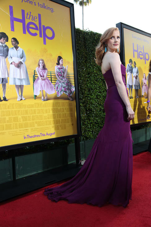 "<div class=""meta image-caption""><div class=""origin-logo origin-image ""><span></span></div><span class=""caption-text"">Star Jessica Chastain arrives at the world premiere of DreamWorks Pictures' and Participant Media's 'The Help' on Monday, August 9, 2011 at the Academy of Motion Picture Arts and Sciences in Beverly Hills, CA. 'The Help' opens in U.S. theaters on August 10, 2011. (Alex J. Berliner/abimages)</span></div>"