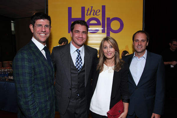 Disney&#39;s Rich Ross, Director Tate Taylor, DreamWorks&#39; Stacey Snider and Participant Media&#39;s Jeff Skoll arrive at the world premiere of DreamWorks Pictures&#39; and Participant Media&#39;s &#39;The Help&#39; on Monday, August 9, 2011 at the Academy of Motion Picture Arts and Sciences in Beverly Hills, CA. &#39;The Help&#39; opens in U.S. theaters on August 10, 2011. <span class=meta>(Alex J. Berliner&#47;abimages)</span>