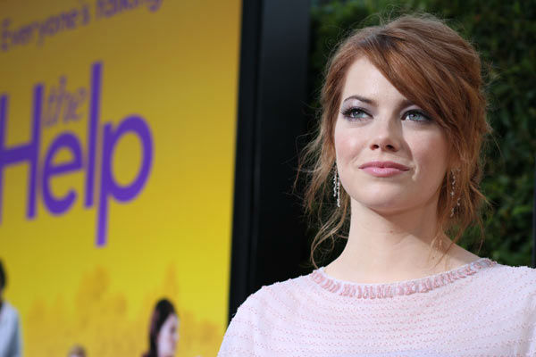 Star Emma Stone arrives at the world premiere of DreamWorks Pictures' and Participant Media's 'The Help' on Monday, August 9, 2011 at the Academy of Motion Picture Arts and Sciences in Beverly Hills, CA. 'The Help' opens in U.S. theaters on August 10, 201