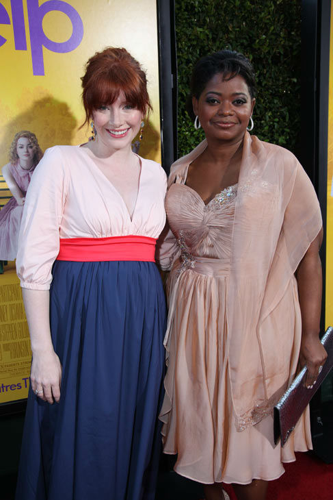 "<div class=""meta image-caption""><div class=""origin-logo origin-image ""><span></span></div><span class=""caption-text"">Stars Bryce Dallas Howard and Octavia Spencer arrive at the world premiere of DreamWorks Pictures' and Participant Media's 'The Help' on Monday, August 9, 2011 at the Academy of Motion Picture Arts and Sciences in Beverly Hills, CA. 'The Help' opens in U.S. theaters on August 10, 2011. (Alex J. Berliner/abimages)</span></div>"
