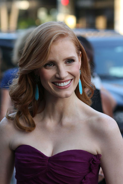 Star Jessica Chastain arrives at the world...