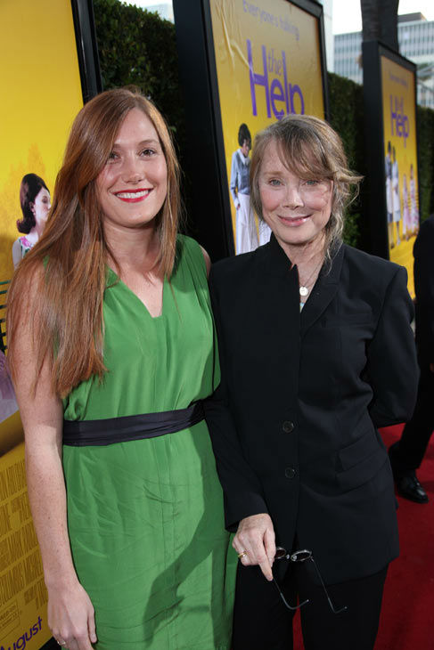 Schuyler Fisk and Star Sissy Spacek arrive at...