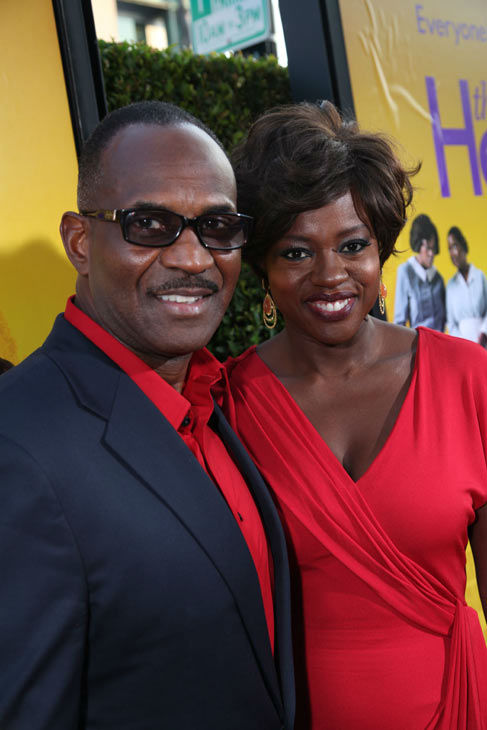 Julius Tennon and Star Viola Davis arrive at the...