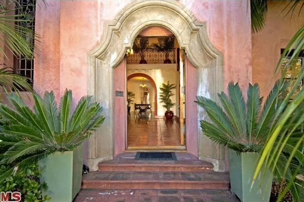 The entrance to Rose McGowan's former home,...