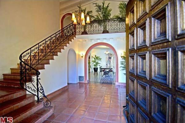 The entryway in Rose McGowan&#39;s former home, located in the Loz Feliz neighborhood of Los Angeles, which was built in 1928 and has 4 bedrooms and 3 bathrooms. The Spanish-style home was sold for &#36;1.7 million in May 2011. <span class=meta>(MLS &#47; Realtor.com)</span>