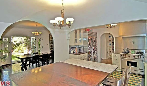 The kitchen in Rose McGowan&#39;s former home, located in the Loz Feliz neighborhood of Los Angeles, which was built in 1928 and has 4 bedrooms and 3 bathrooms. The Spanish-style home was sold for &#36;1.7 million in May 2011. <span class=meta>(MLS &#47; Realtor.com)</span>